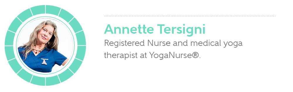 Annette Tersigni is a Registered Nurse and medical yoga therapist at YogaNurse