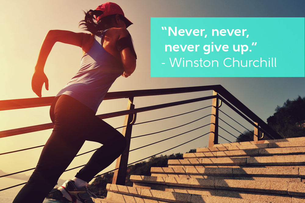 Never, never, never give up. - Motivational Quote by Winston Churchill