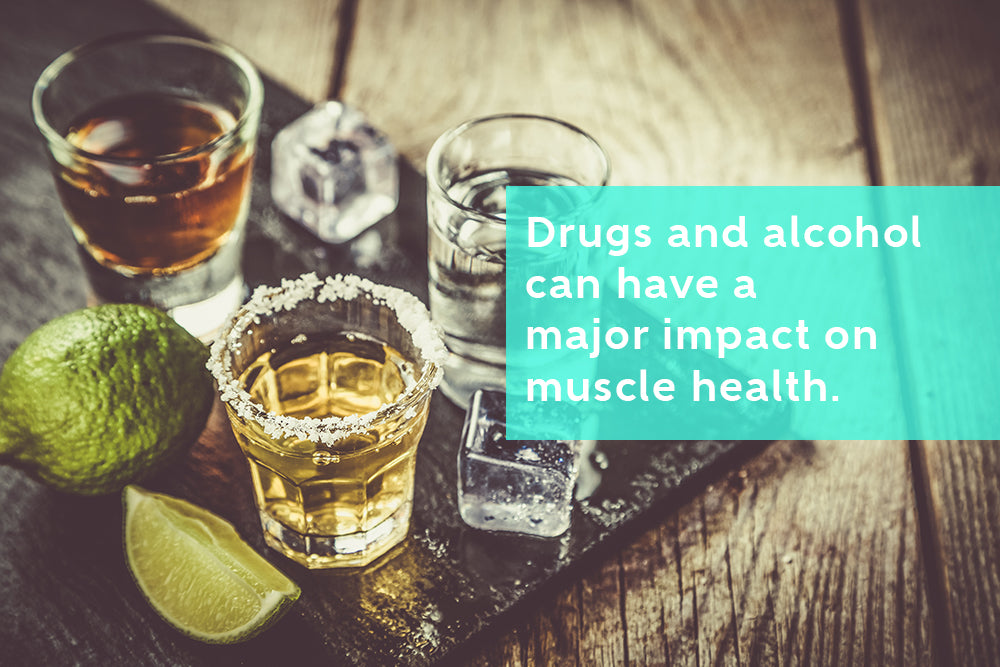 Drugs and alcohol can impact muscle health and cause rhabdomyolysis