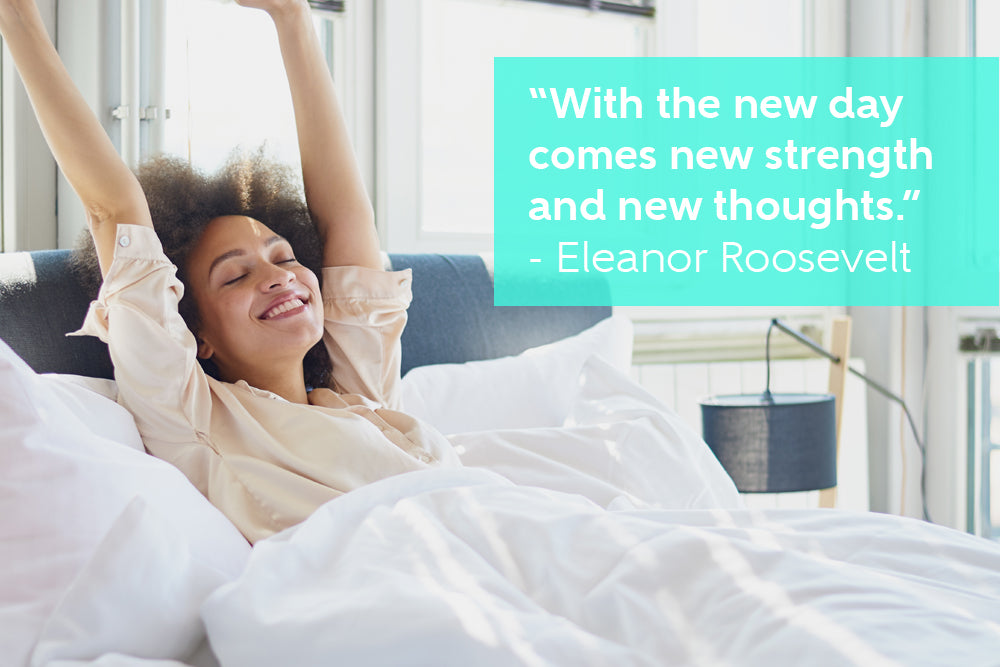With the new day comes new strength and new thoughts - By Eleanor Roosevelt