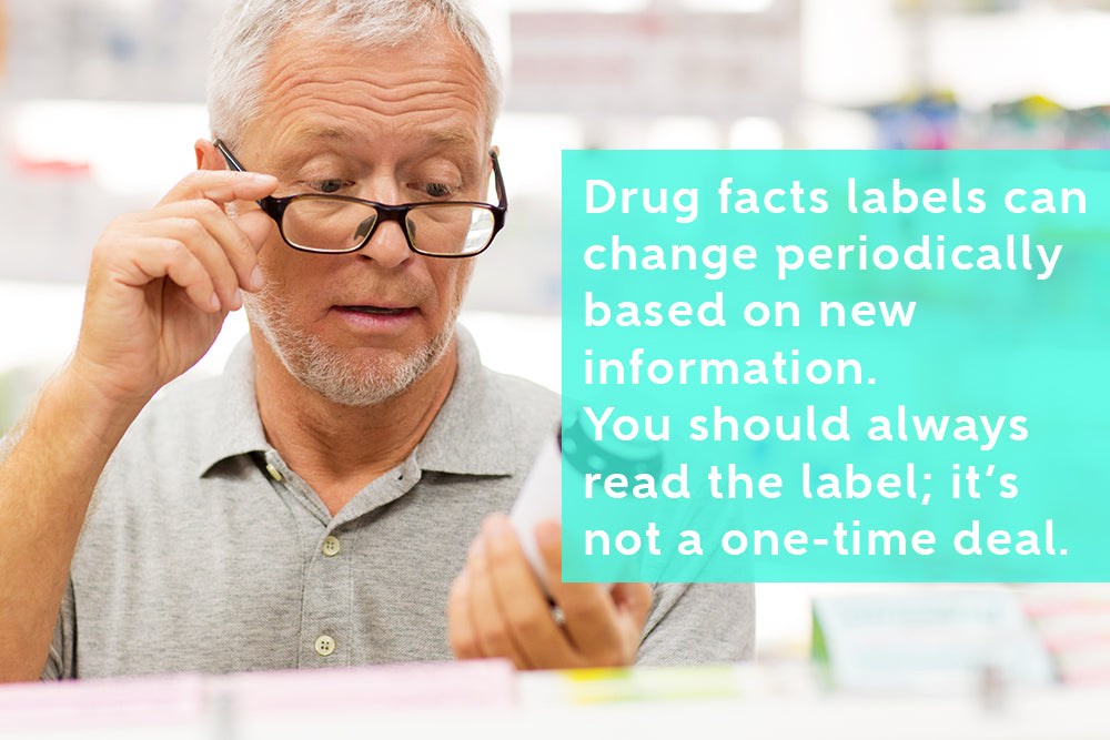 You should always read the label as information change periodically
