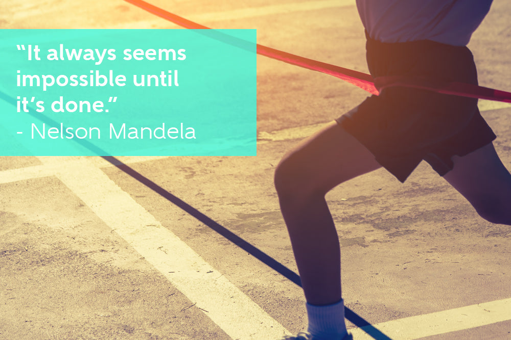 It always seems impossible until it's done - Motivational Quote by Nelson Mandela
