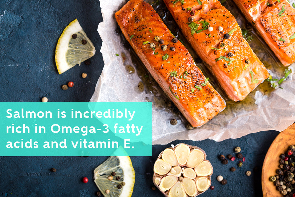 Omega-3 fatty acids and Vitamin E Rich Salmon