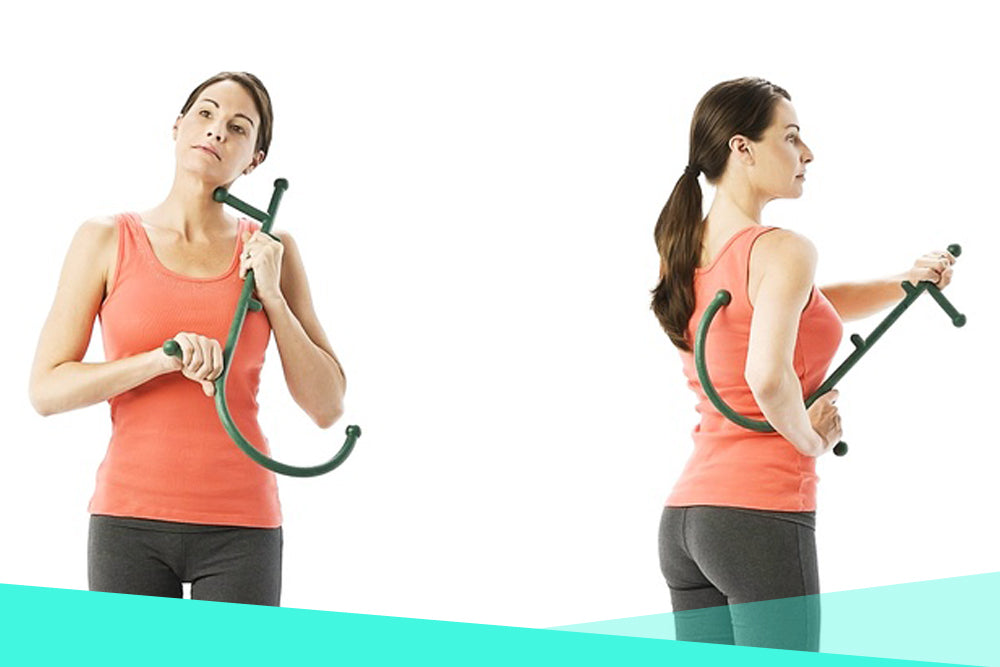 Thera Cane Self Massager Applies Pressure To Sore Muscles