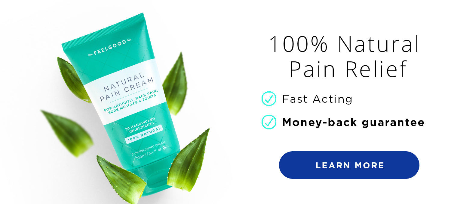 Pain Relief Cream with Aloe Vera and Other Natural Anti Inflammatory Ingredients