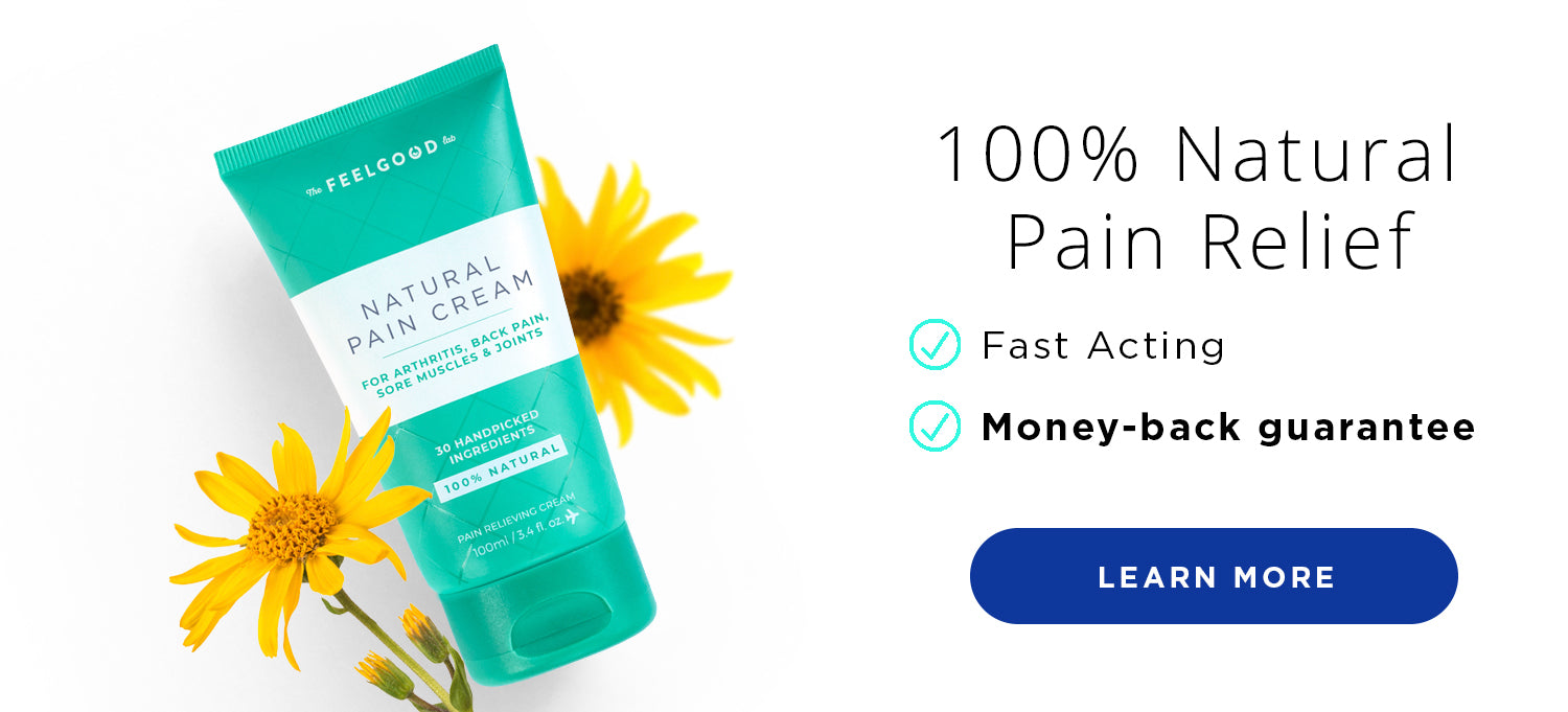 Fast acting pain relieving cream comes with satisfaction guarantee
