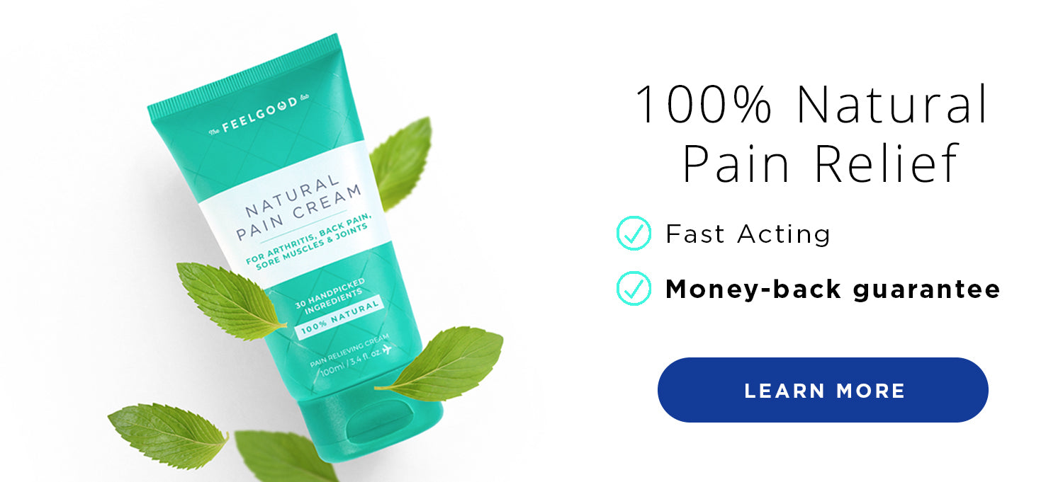 100% Natural Pain Relief Cream With Menthol