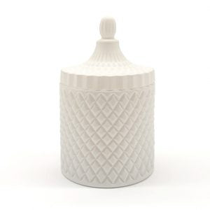 White Luxury Candle with Lid