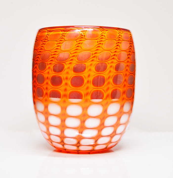 Orange Hand Blown Glass - New Orleans Glass Works