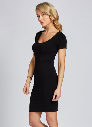 BAMBOO CAP SLEEVE DRESS