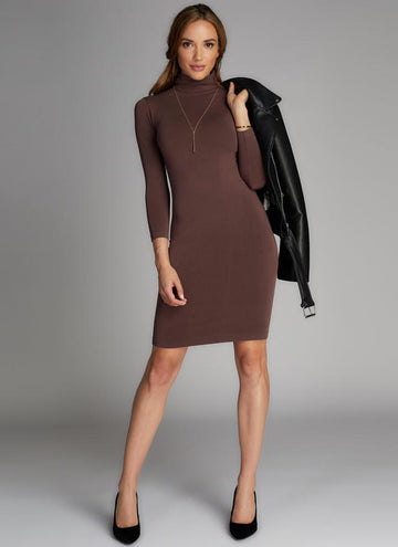 Bamboo Turtle-Neck Dress