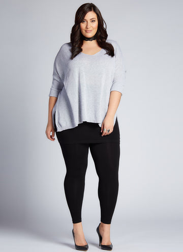 BAMBOO PLUS SIZE LEGGING WITH SKIRT