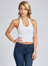 BAMBOO CROP HALTER TOP