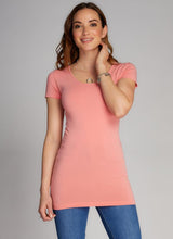Bamboo S/S Scoop Neck Top