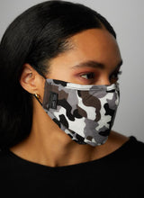 Camo Pattern Three Layer Face Mask