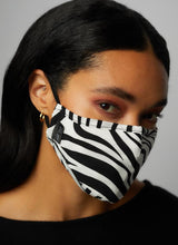 Zebra Pattern Three Layer Face Mask