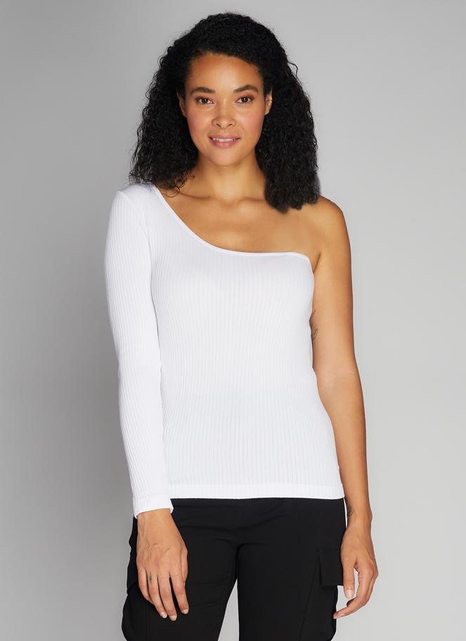 Seamless Rib One Shoulder Top