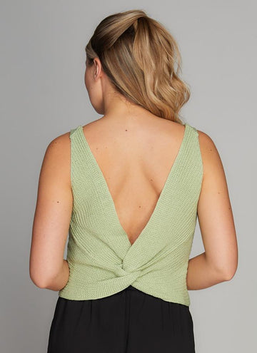 Knit Knot Back Top