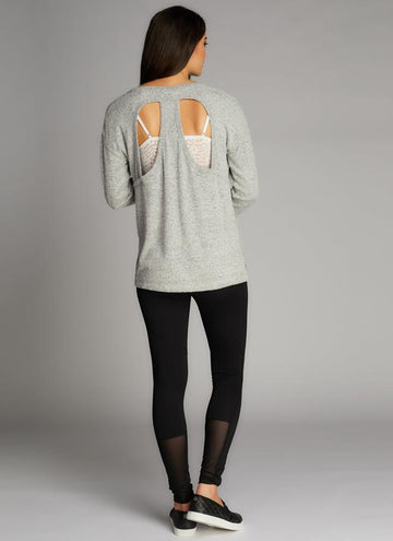 Rayon Soft Knit Open Back Top