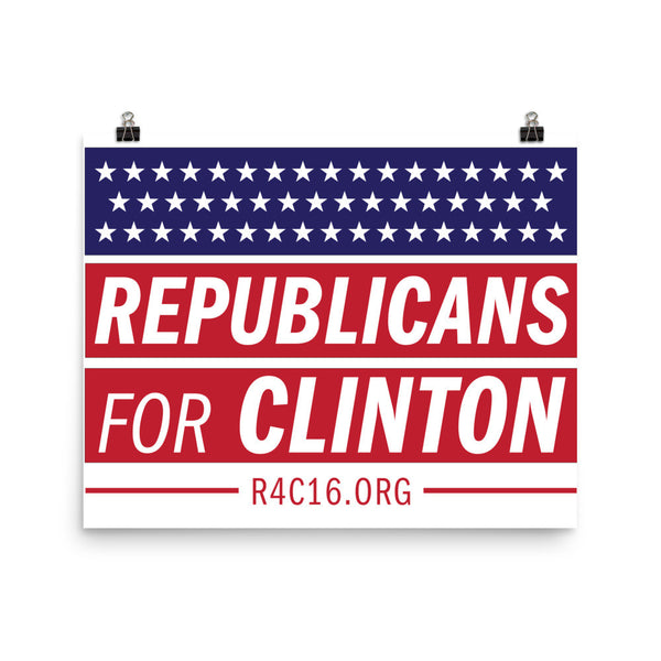 Republicans for Clinton Poster