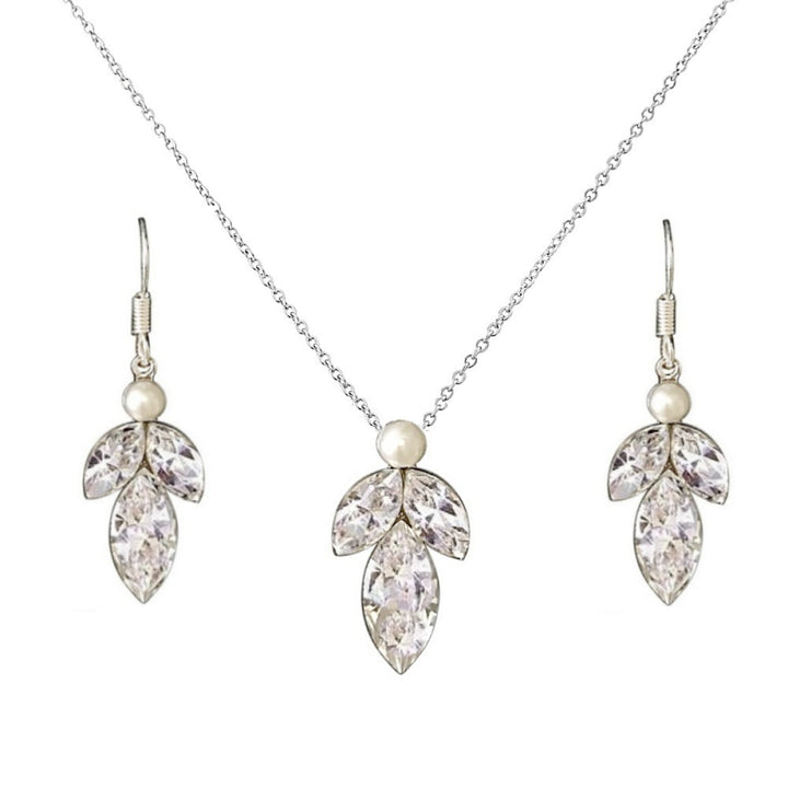 Marquise Drop Necklace Set