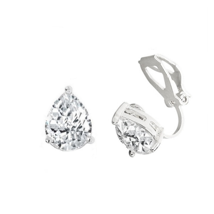 Classic Pear Clip on Earrings