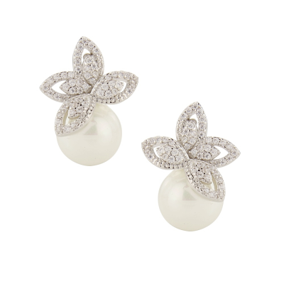 Ellie Pearl Earrings