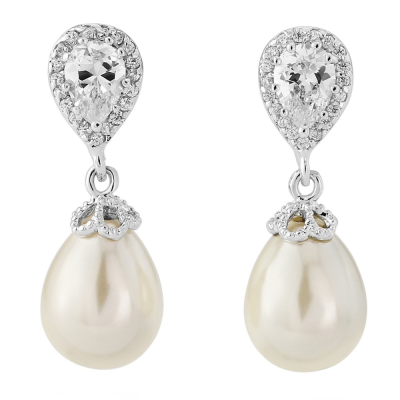 Shimmer Pearl Earrings