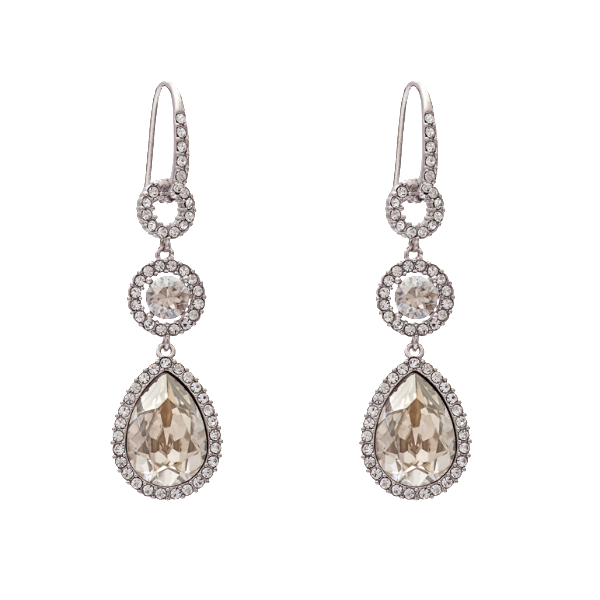 Amy Earrings - Silver Shade