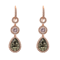 Amy Earrings - Black Diamond