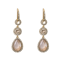 Amy Earrings - Ivory Creme Lacour
