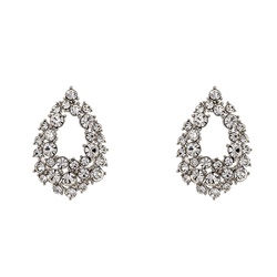 Petite Alice Earrings - Crystal