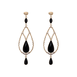 Garbo Earrings - Jet