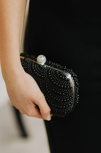 Black Pearl Clutch Bag