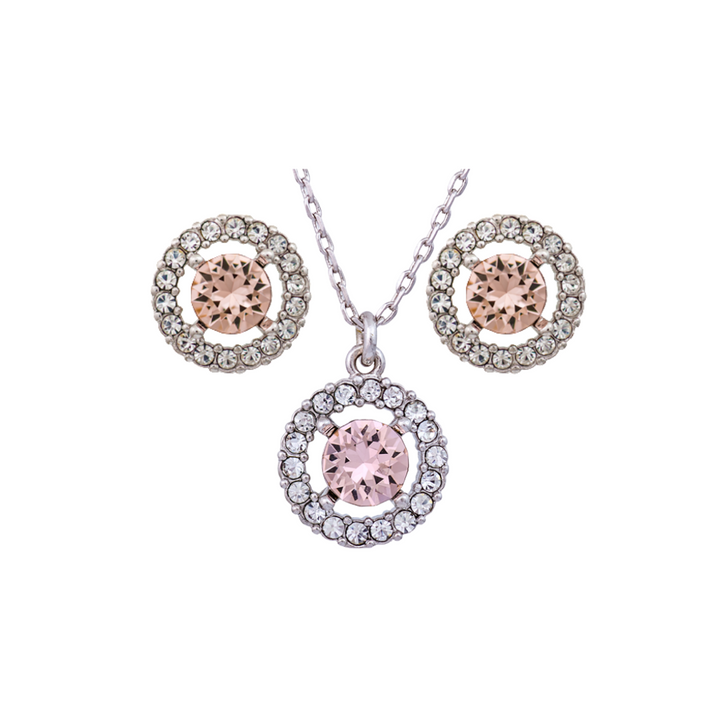 Miranda Necklace & Earrings set - Silk