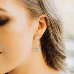 Sienna Earrings - Crystal