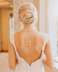 Jewelled Back Drop Necklace
