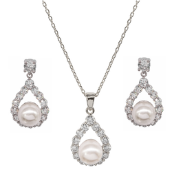 'Thank You for being my Bridesmaid' necklace & earring set