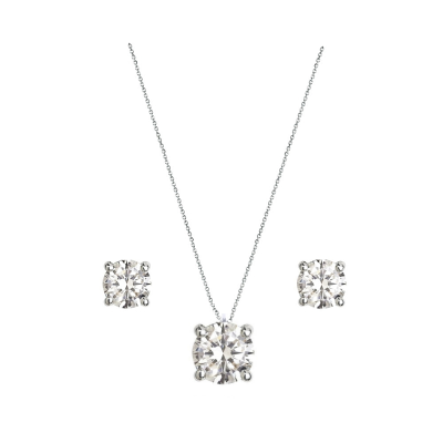 Stella Solitaire Necklace & Earrings Set