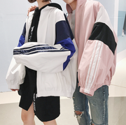 Colorblock Striped Windbreaker (S-2XL)