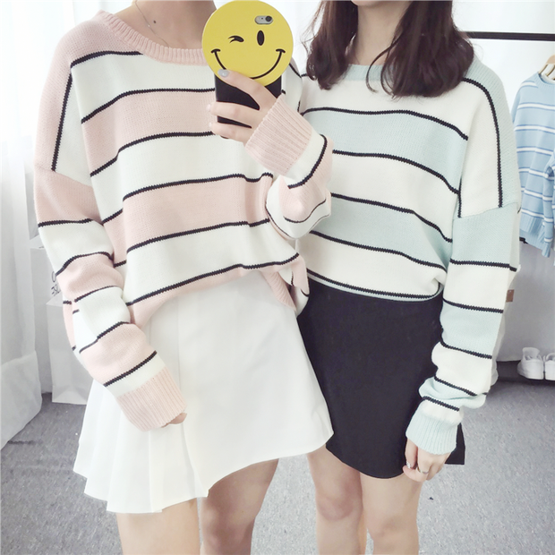 Candy Striped Sweater (3 Colors)