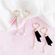 Velvet Pearl Heart Earrings