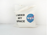 I Need My Space Canvas Tote