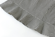 Gingham Ruffled Skirt (S-L)