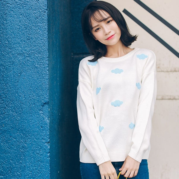 Cloud Print Sweater