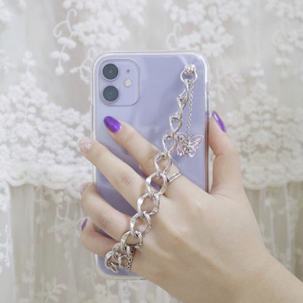 Silver Butterfly Chain Case