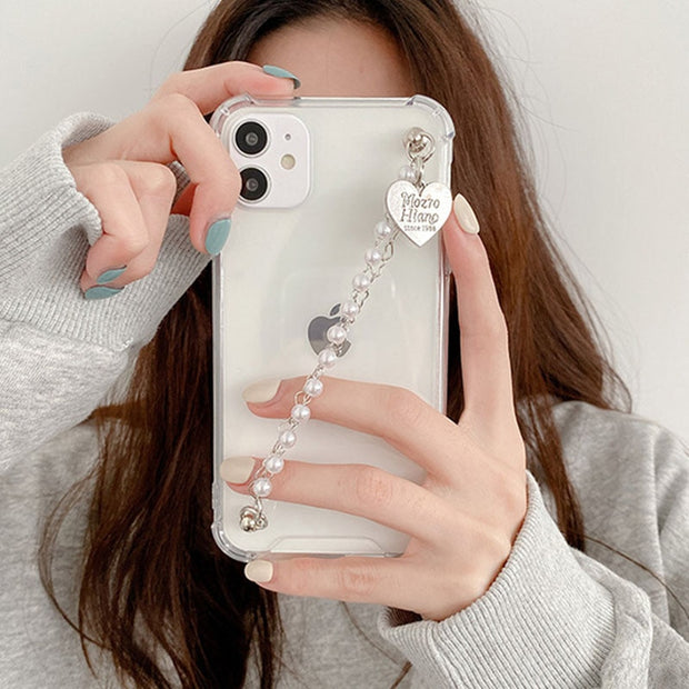 Pearl Heart Chain Case