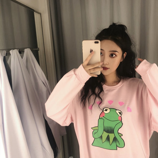 Kermit In Love Pullover (2 Colors)