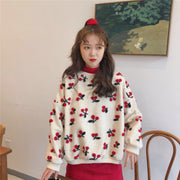 Soft Fuzzy Cherry Pullover