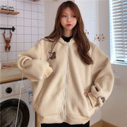 Soft Baggy Grizzly Bear Fleece Jacket